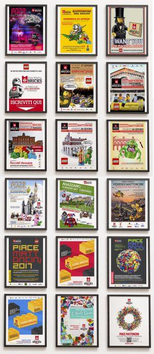 Le locandine di Piacenza Bricks (eventi LEGO)